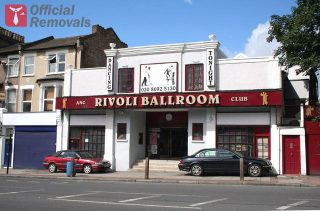 Main entrance of the Rivoli Ballroom