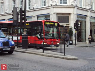 Bus in central London
